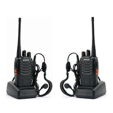 2 x Baofeng BF-888S UHF 400-470 MHz CTCSS Two-way Ham Radio 16CH Walkie Talkie