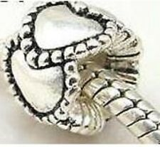 925 STERLING SILVER FINISH HEART CHARM BEAD