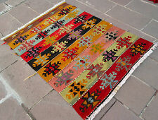 "Turkish Kilim Rug Hand Woven Wool Anatolian Area Kelim Rug 44"" x 61"""