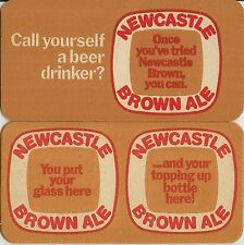 4 Vintage NEW NEWCASTLE BROWN ALE Double Size COLLECTABLE Beer Mats.Brewerianna