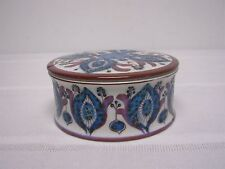 ROYAL COPENHAGEN ALUMINIA FAJANCE 432/3162 SIGNED BERTE JESSEN COVERED BOX