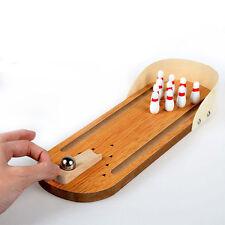 Wooden Office Desktop Ten Pin Bowling Skittles Christmas Stocking Game Toy 19116