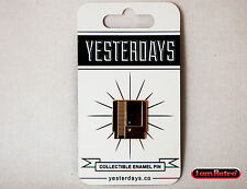 "Gold Cartridge NES 0.75"" Soft Enamel Gold Plated Lapel Pin Yesterdays.Co"