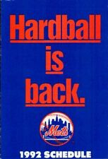 1992 New York Mets Team Schedule MetLife