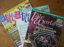 Vintage Tole World Magazines 2003 - 2004, Set of 3 Magazines