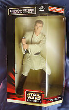 STAR WARS # 43 OBI-WAN KENOBI MEGA collectible, no 57495, famosa SPADA LASER SI ILLUMINA!