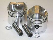Triumph unit 500 twin piston set .060 over pistons 68mm clips pins plus 60 9.5:1