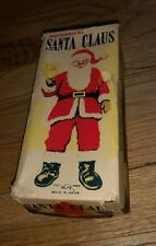 vintage  Mechanical Santa Claus figure toy with original box Christmas antique