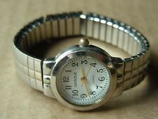 WATCH-IT LADIES QUARTZ WRISTWATCH WITH SILVER-TONE METAL FLEX BAND *RUNS*