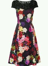 BNWT*PHASE EIGHT*DORA DRESS,10(UK)LACE/ FLORAL, FIT AND FLARE,COCKTAIL,STUNNING