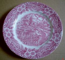 Broadhurst Pottery Side Plate The Constable Series Pink Red