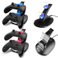 LED USB Dual Charger Controller Fast Charging Dock Stand for Microsoft Xbox One