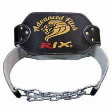 Rix Leather Dipping Belt Body Building Weight Lifting Gym Dip Chain Exercise