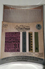 Sizzix texture fades -Tim Holtz Halloween background & borders set RRP £7.99