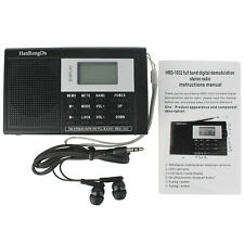 DSP FM Stereo/MW/SW Radios Digital World Band Broadcasting Receiver for Hiking