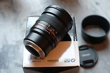Samyang 85mm F1.4 Lens Boxed with filter fitted. FUJI X Mount
