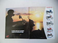 advertising Pubblicità 2001 MOTO HONDA AFRICA TWIN 750/TRANSALP 650/DOMINATOR