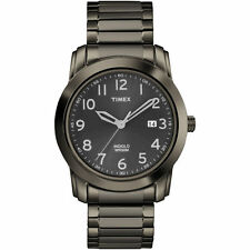 Timex T2P135, Men's Gray Dress Expansion Watch, Indiglo, Date, T2P1359J