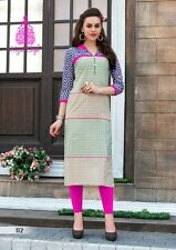 Fancy Heavy Designer Cotton Printed Kurti / Kurta / Tunic in XL Size D.NO.112