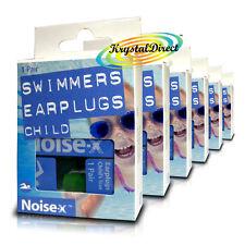 6x noise-x Earplugs NUOTO PER BAMBINI BAMBINO NUOTO NUOTATORI Orecchio Spine Kids