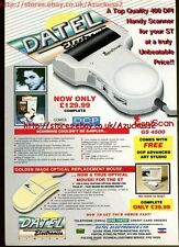 Datel Electronics Handy Scanner 1991 Magazine Advert #5631