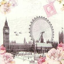 4x Single Table Party Lunch Paper Napkins for Decoupage Decopatch Craft London