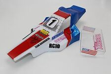 Vintage Painted body and Wing Team Associated Rc10 Cliff Lett's Winning cars