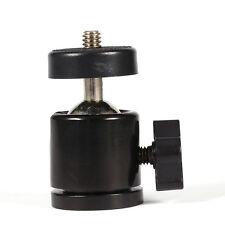 "New 360° Mini Ball Head Bracket Mount For 1/4"" Camera Tripod & 3/8"" Flash Holder"