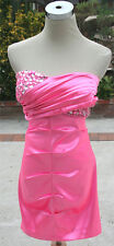 NWT WINDSOR $85 Neon Pink Evening Party Prom Dress 9