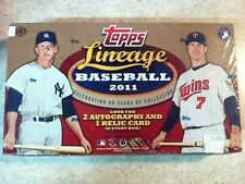 2011 Topps Lineage Baseball HOBBY Box 2 Auto 1 Relic Ruth/Koufax/Mantle/Aaron?
