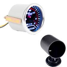 "Car Motor Smoke Len 2"" 52mm Indicator Vacuum Gauge Meter Kit In.Hg Holder"
