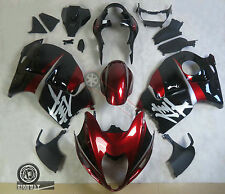 ABS Plastic Fairings Kit For Suzuki GSX1300R Hayabusa Black Red 1997-2007 06 WR