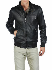 DIESEL LION BLACK LEATHER JACKET SIZE L 100% AUTHENTIC