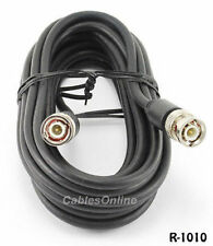 10 ft. RG58 Coaxial Cable w/ BNC Male Connectors Black