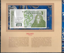 Most Treasured Banknotes Ireland 20-02-1984 1 pound P 70c GEM UNC Prefix ABI