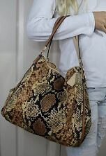 COACH Madison Phoebe 31502 Python Snake Print Shoulder Bag Tote