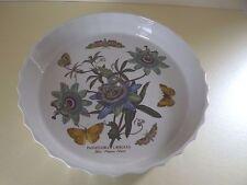 Portmeirion Botanic Garden 10½ Inch Flan/Quiche Dish Blue Passion Flower (68,43)