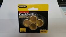 "Stanley 3/4"" Brass Flush Finger Pulls 4 Pack Passage door handle"