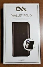 100% Authentic Case-Mate Wallet Folio for the all NEW LG V20 Genuine Leather