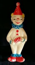 Vintage 1960's The Sun Rubber Company CLOWN Squeaky Toy - Squeaks!