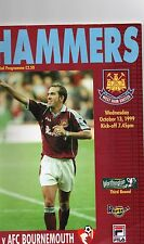 Football Programme, Worthington Cup Third Round, West Ham v Bournemouth