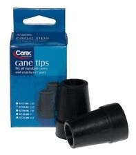 3 Pack Carex Cane Tips 3/4 Inch 2 Count Each