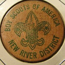 1981 New River District BSA Christiansburg, VA Wooden Nickel - Token Boy Scouts