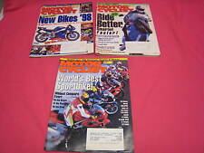 3 MOTORCYCLIST MAGAZINES 1997 YZF1000R1, BOXSTER, VFR750FGSX-R750, T595  (Y74)