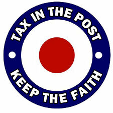 SKA / MODS - TARGET - FUN CAR STICKERS - REPLACE OLD TAX DISC / NEW / GIFT