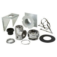 """NIB SuperVent JSC6DWSK 6"""" Wood-Stove Exhaust Chimney Pipe THRU-WALL SUPPORT KIT"""