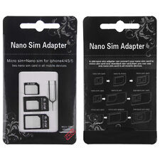Black Nano Sim Card to Micro Standard Adapter Tray Holder Converter