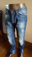 JUST CAVALLI distressed fitted JEANS - worn once - Size 34