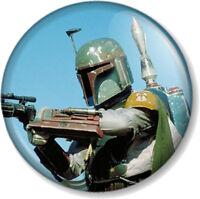 "Boba Fett 25mm 1"" Pin Button Badge Star Wars Character Bounty Hunter Movie Geek"