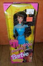 Earring Magic Barbie Doll New NRFB Brunette Blue Dress Mattel 1992